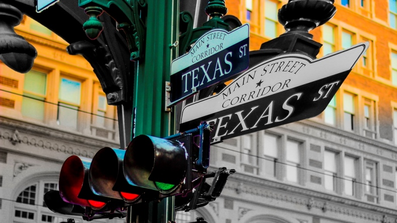 Texas and Main Street Downtown Houston