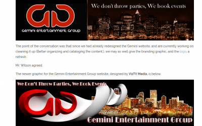 Banner Redesign Project for Gemini Ent Group