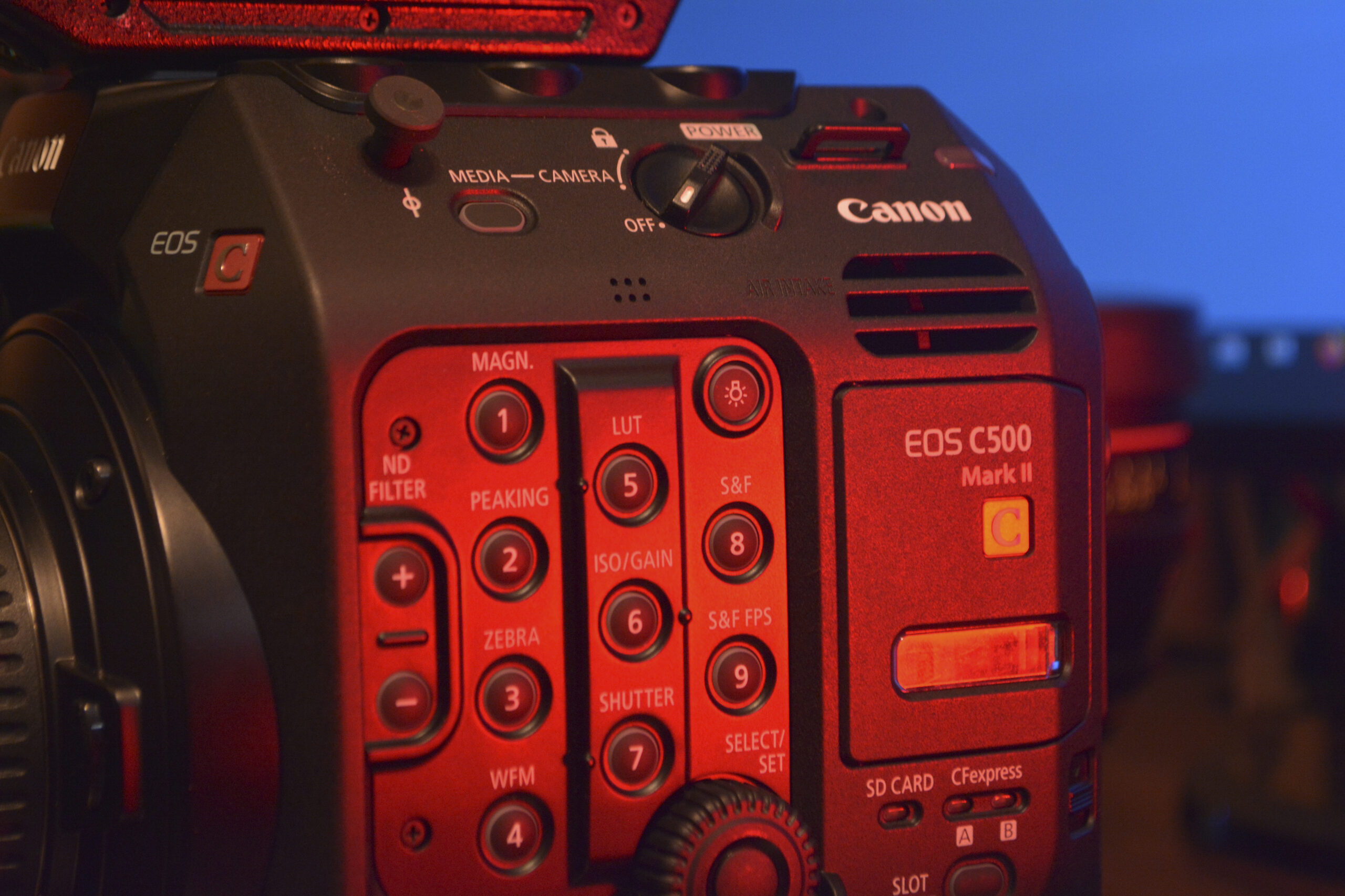 Canon EOS C500 Mark II - Side Close Up