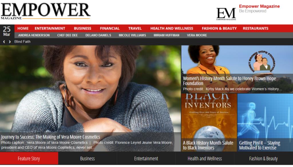 Empower Magazine - Web design for a Houston based magazine.