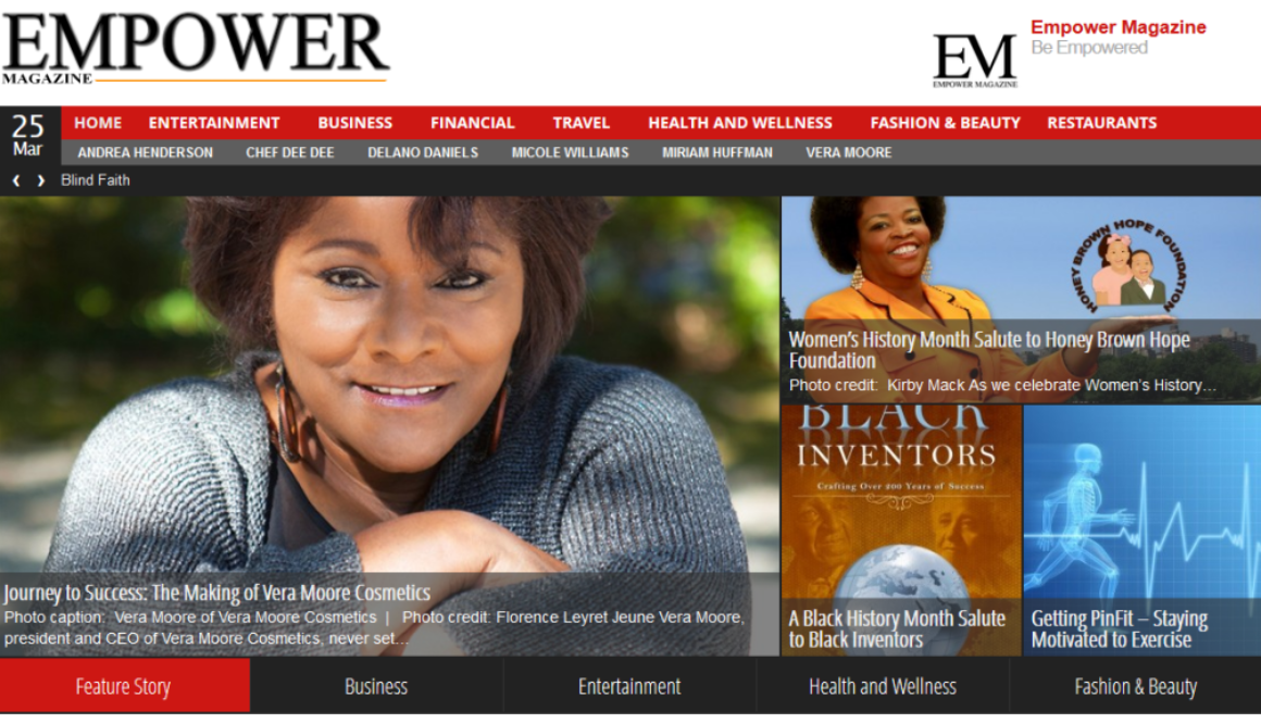 Empower Magazine - Web design for a Houston based magazine.
