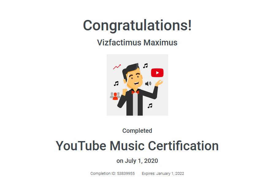 Shank's YouTube Certification